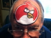 angry bird face painted design
